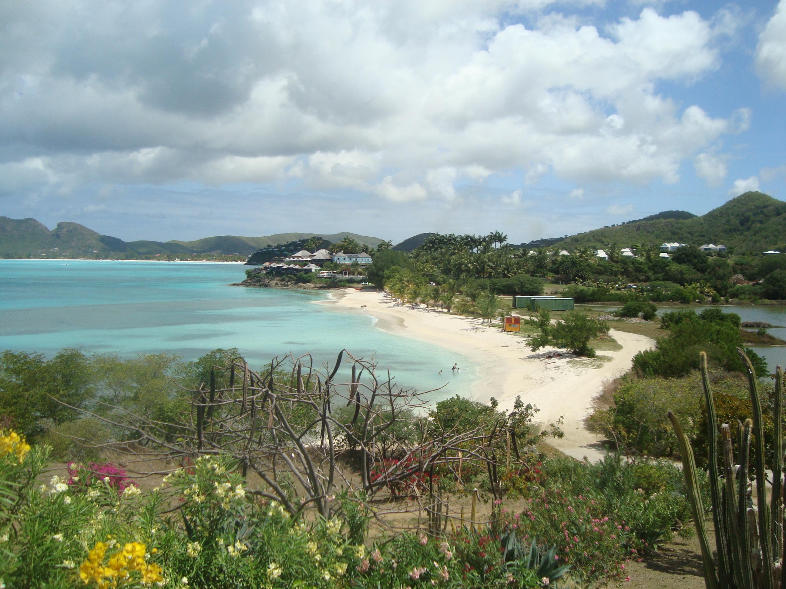 Antigua view from Dennis's restaurant 2