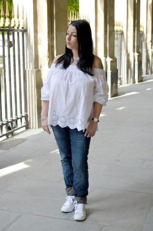 Blog mode melolimparfaite blouse blanch mango dentelle