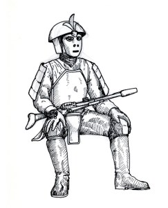 armoredsoldierseated