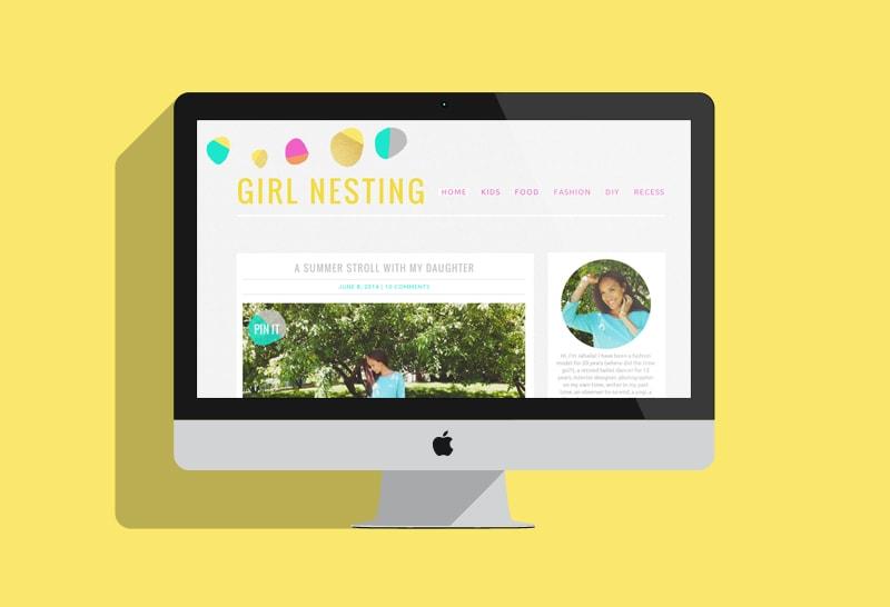 Recent Blog Design for Girl Nesting - Melyssa Griffin