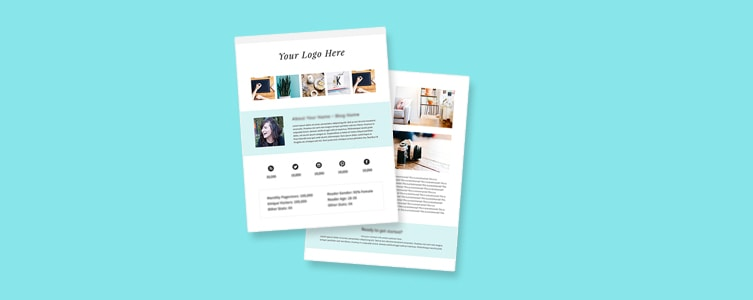 How and Why to Create a Media Kit for Your Blog (Free Template
