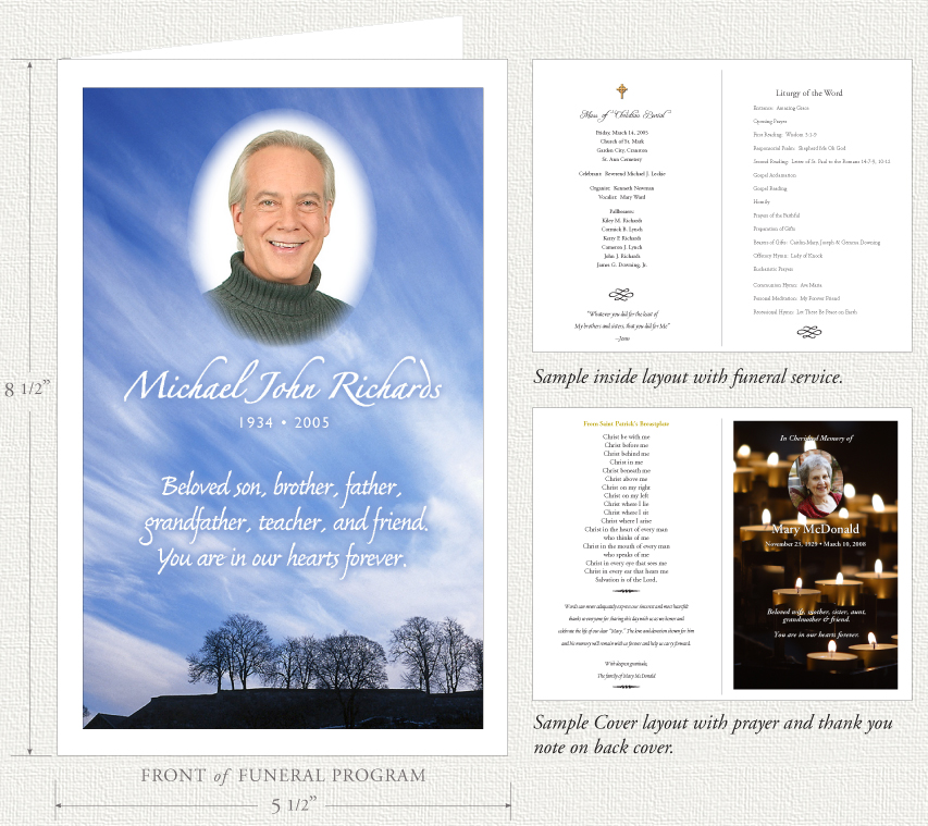 Funeral Programs by Memorial Prayer Cards - program for a funeral