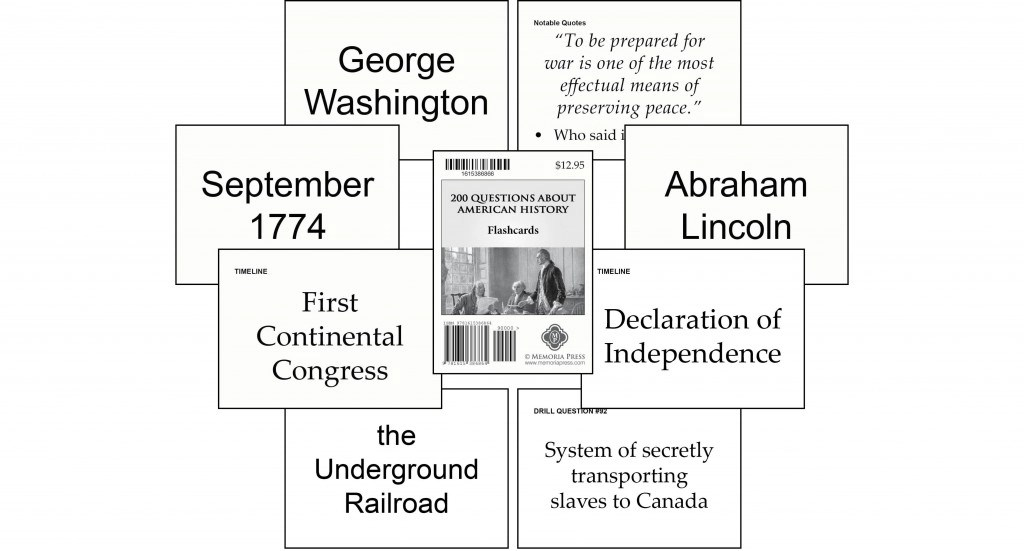 200 Questions About American History Flashcards Memoria Press