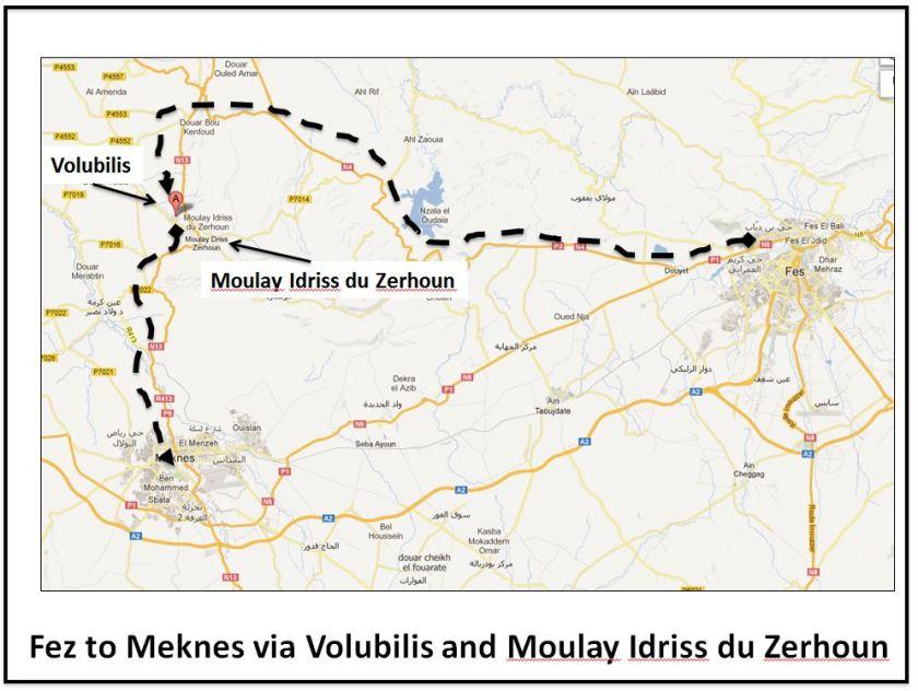 Fez to Meknes via Volubilis and Moulay Idriss du Zerhoun