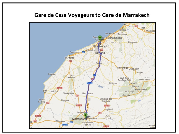 How to get the train from Casablanca to Marrakech
