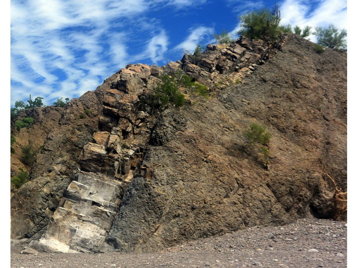 I found this to be a very interesting rock formation seen during our hike.