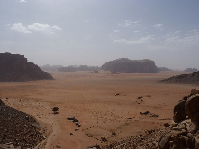 Wadi Rum aka Wilderness of Paran And they came to Moses and Aaron - land form