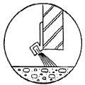 Brush mounting for bottom of overhead doors