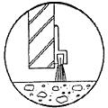 Brush mounting for bottom of entry doors