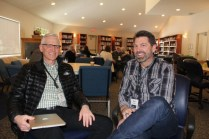 CCMBC executive director Willy Reimer (l) and Gospel Coach Scott Thomas. Photo by Gladys Terichow