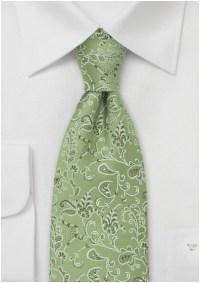 Designer Tie in Moss Green