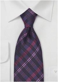 Dark Purple and Pink Tie
