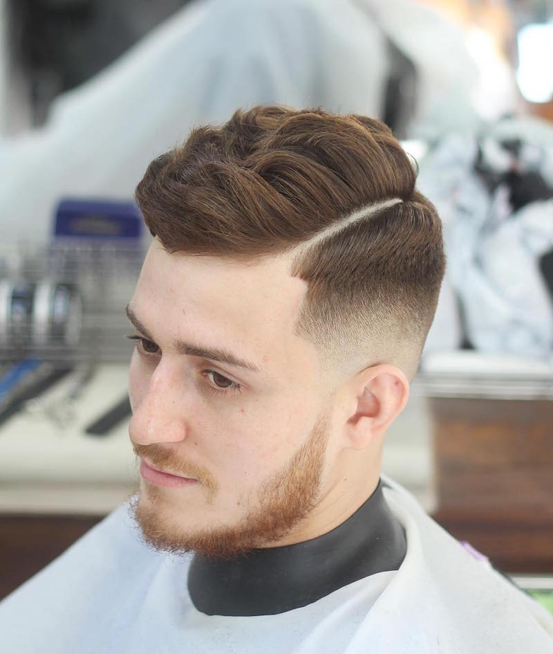 alan_beak_and perfect fade hard part natural waves hair styles
