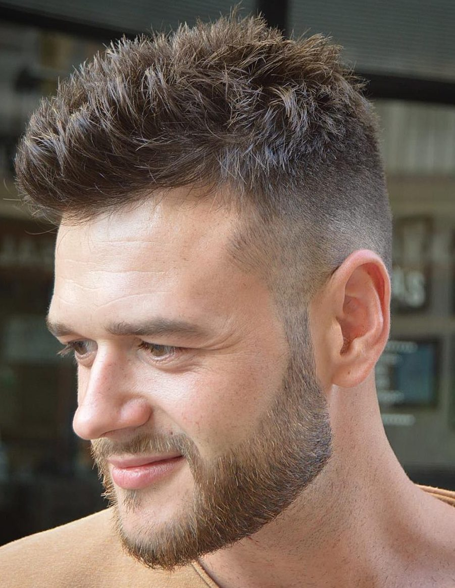 Easy short hairstyle for men