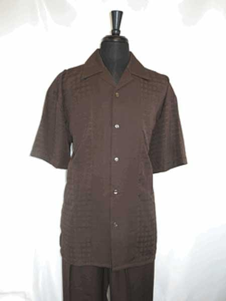 5 Button Coco Chocolate brown Single Breasted Shirt With Pan