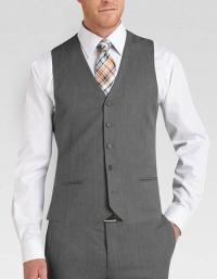 Silver Gray Vest and Tie Combo, Fashion Three Piece Suit