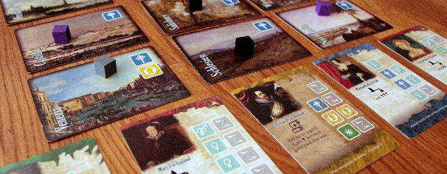 Building a dynasty of nobles, how much drier can the concept of a game possibly sound. Have children, marry them to other families, repeat until rich and and famous. I was happy to find out that this prejudice was dead wrong. Despite its theme, Among Nobles is anything but dry, it has a great balance of simple rules, strategic decision and player interaction.