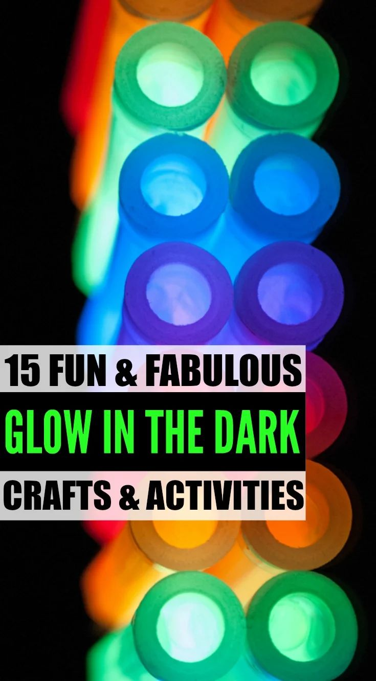 Looking for cool and crazy glow in the dark crafts and activities for kids look