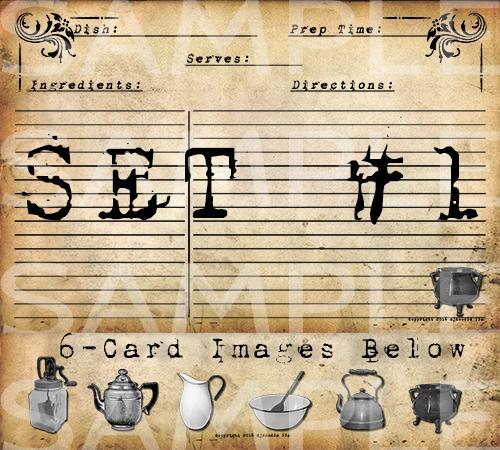 Prim Recipe Cards - Series #1 - Mercantile Gatherings