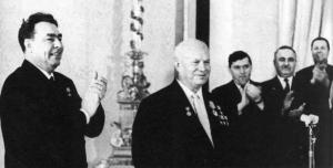 Brezhnev at Khrushchev's 70th birthday in april, 1964