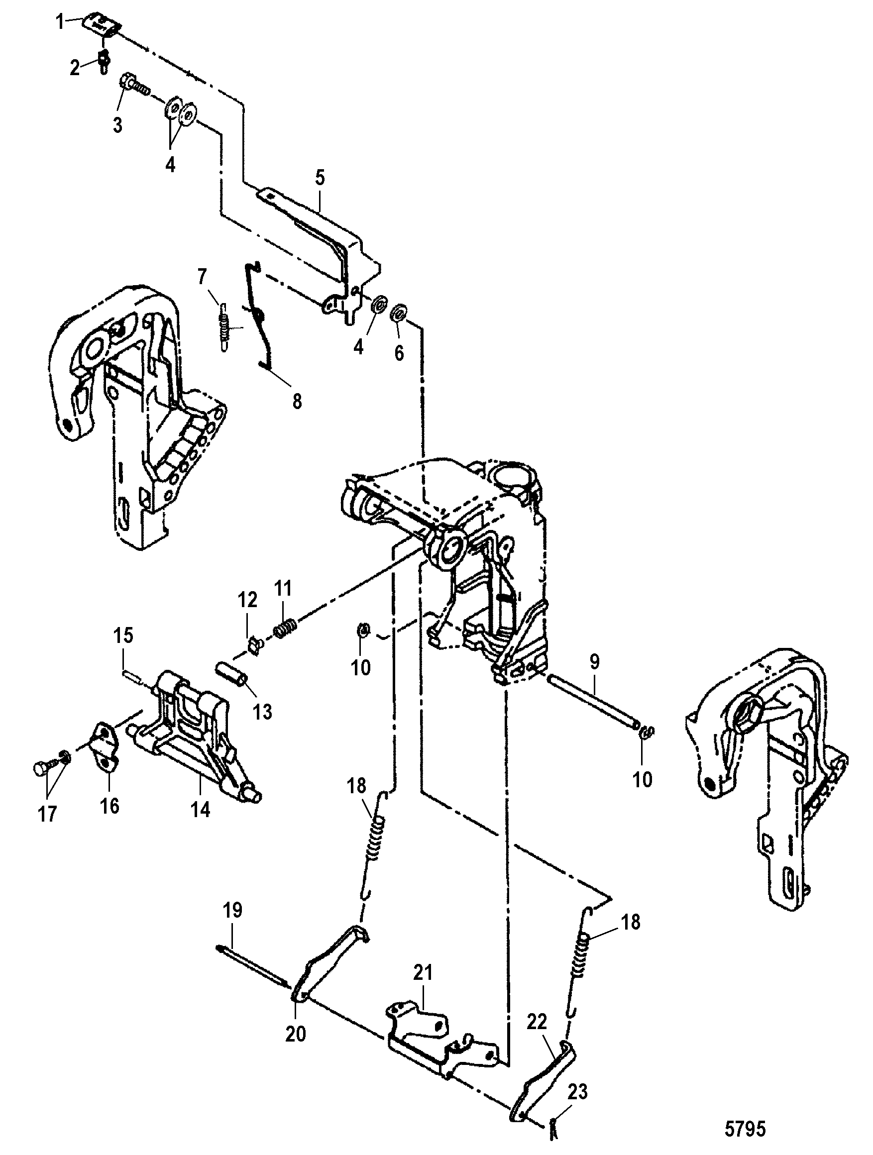 mercury outboard 0n056165 up fuel line diagram and parts