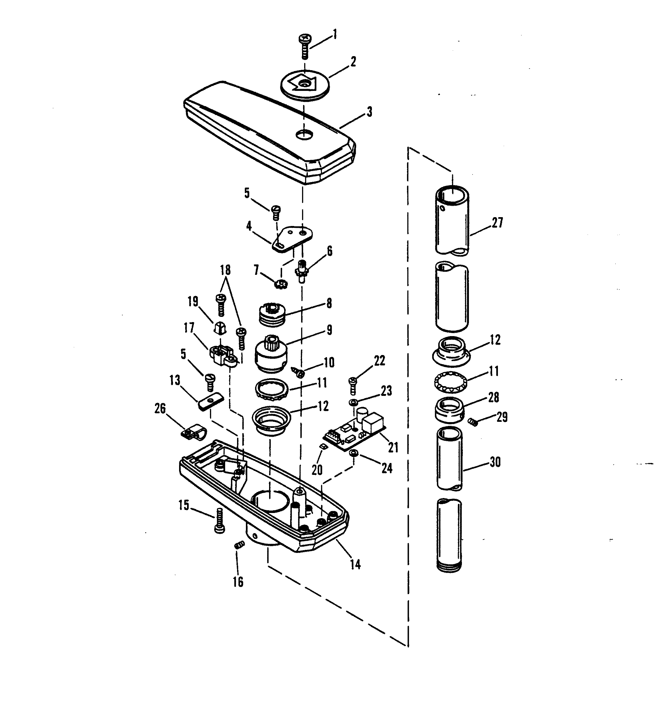 paddle boat parts diagram