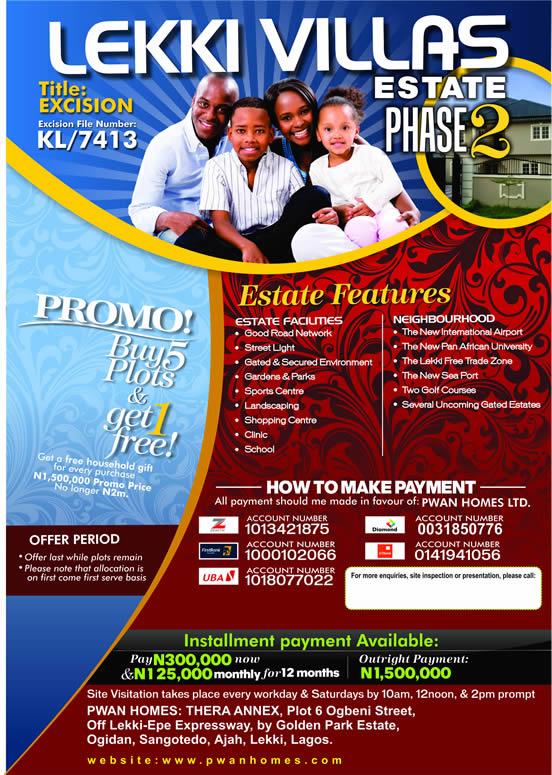 Land - Lekki Villas Estate Phase 1 (spread payment) - wwwmercyhomes