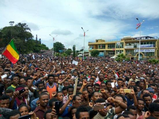 Amhara protest in Gondar