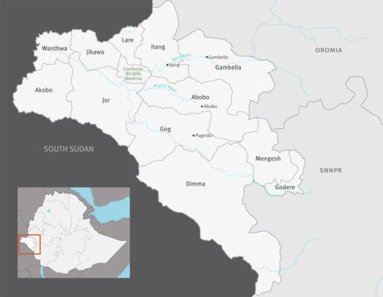 Gambella, western Ethiopia zones
