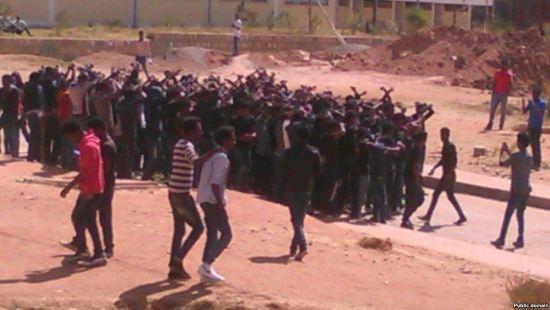 Protests at Haramayaa and Jimma Universities - 12 January 2016
