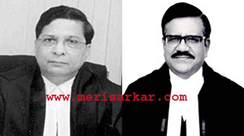A bench of Supreme Court Justice Dipak Mishra (L) and Justice Shiva Kirti Singh ordered the floor test on May 10.
