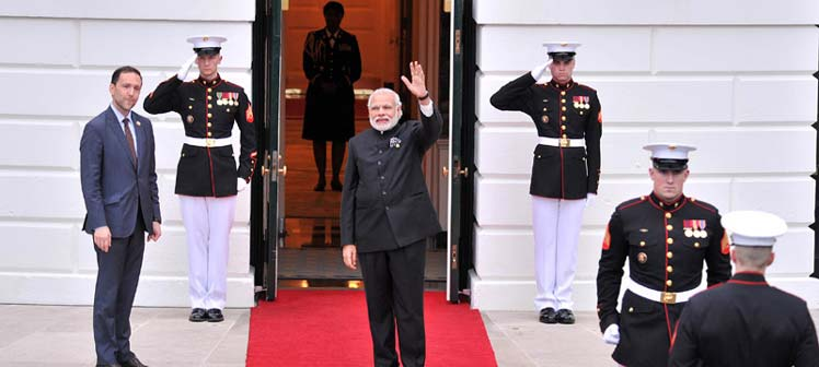 Prime Minister Modi lamented the double standards of some countries while dealing with terrorism.