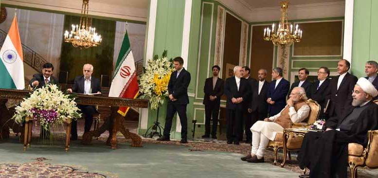 A dozen agrements were signed in the presence of Prime Minister Narendra Modi and President Hassan Rouhani.