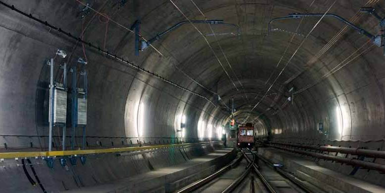 Construction work on Gotthard tunnel is completed in 20 years.