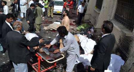 File photo of suicide attack in a Quetta hospital in Pakistan. Most of the dead and injured were lawyers and journalists. August 08, 2016.