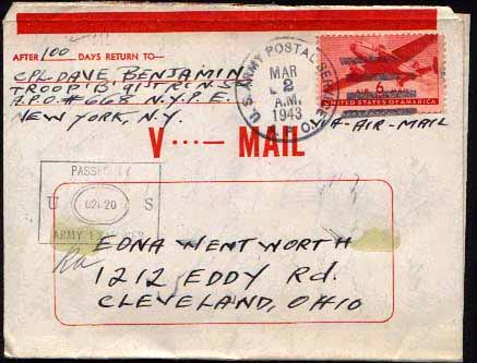 V-mail letter from Mother #5 - WWII
