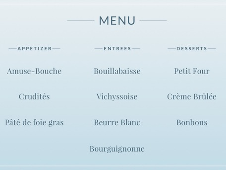 How to Read a French Menu (Video) Merriam-Webster - menu