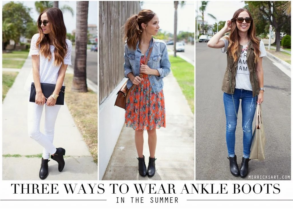 3 Ways To Wear Your Ankle Boots During The Summer
