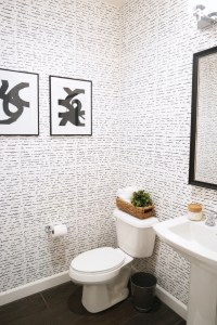 Wallpapering the Powder Room + A How-To Video! | Merrick's ...