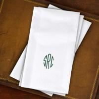 Designer Paper Linen Guest Towels with Monogram