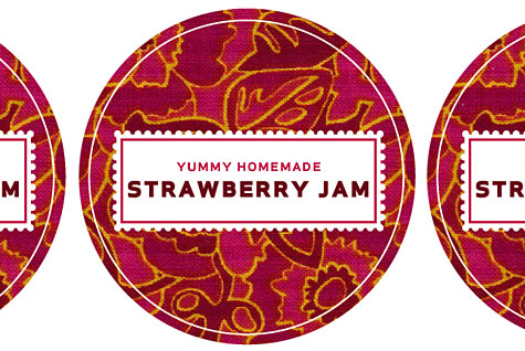 Canning label template - Merriment Design