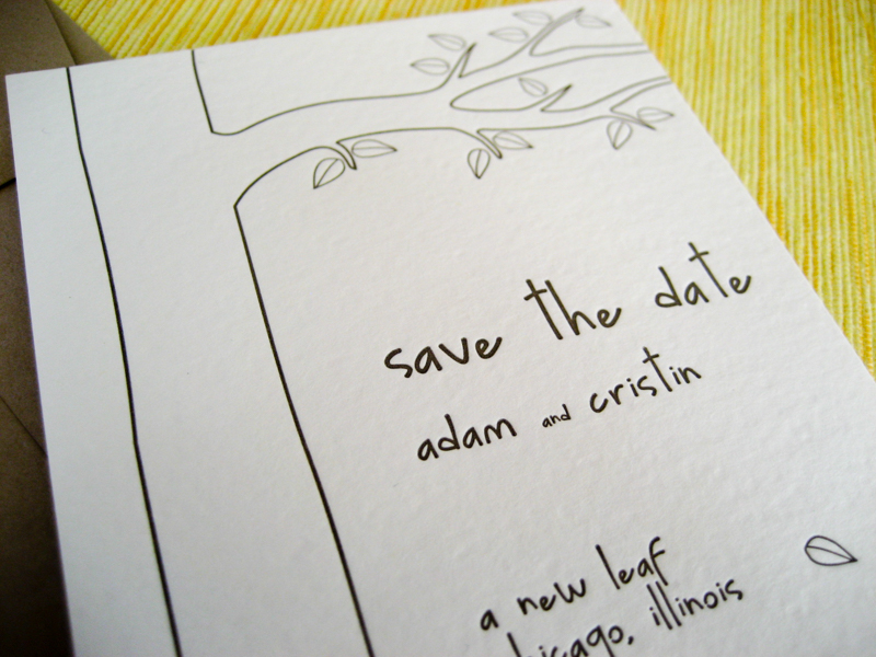 Giving Tree Save the Date Wedding Announcement for Fall - Merriment