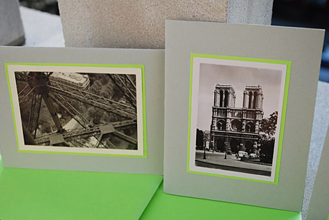 Retro Paris Photo Notecards and A2 Size Envelope Template