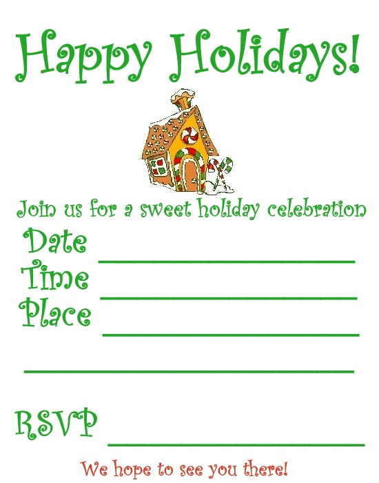 Free Printable Christmas Party Invitations Templates u2013 gangcraftnet - party invitation templates word