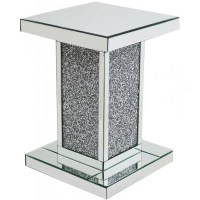 Crushed glass lamp table - Lamp tables - Mirrored furniture
