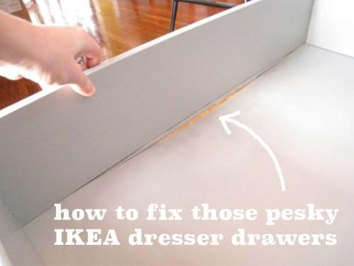 How to repair a broken IKEA dresser drawer