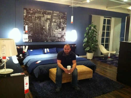 Pete. Man cave at IKEA. He liked the city art.