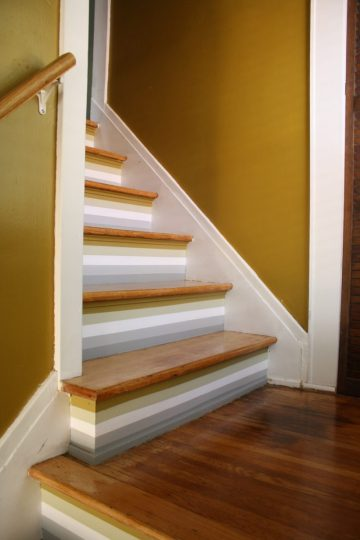 Finished stair paint.
