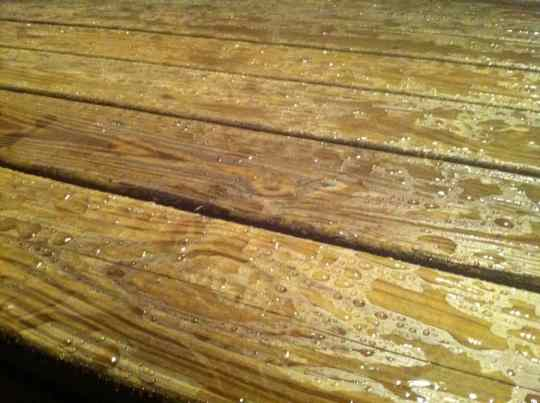 Aw yeah, this is what a real deck should look like after a downpour.