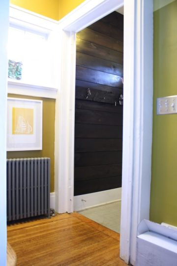 Finished entryway.